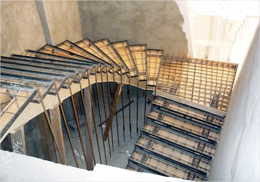 Лестницы монолитные фото